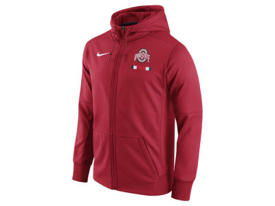 Ohio State Buckeyes Nike NCAA Men's Therma Fit Sideline Full Zip Hood