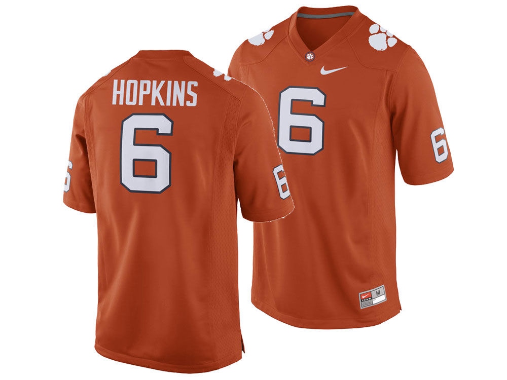 Clemson Tigers DeAndre Hopkins Nike NCAA Men s Player Game Jersey ... e4fd57390