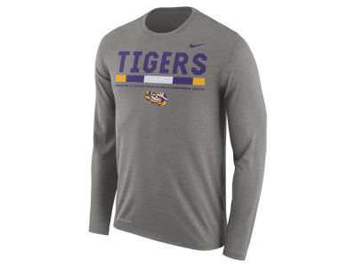 LSU Tigers Nike NCAA Men's Legend Sideline Long Sleeve T-Shirt