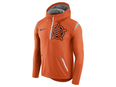 Oklahoma State Cowboys Nike NCAA Men's Fly-Rush Hooded Quarter Zip