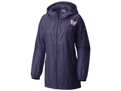Washington Huskies Columbia NCAA Women's Flashback Long Windbreaker Jacket