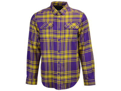 LSU Tigers Columbia NCAA Men's Flare Gun Flannel Long Sleeve Shirt