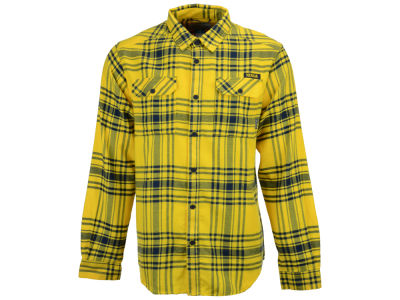 Michigan Wolverines Columbia NCAA Men's Flare Gun Flannel Long Sleeve Shirt