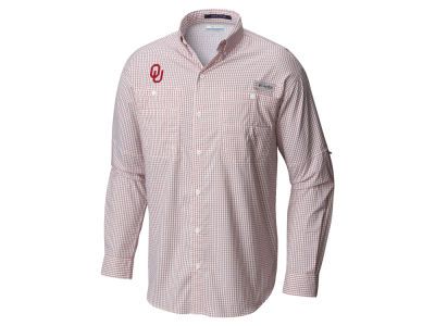 Oklahoma Sooners Columbia NCAA Men's Super Tamiami Long Sleeve Shirt