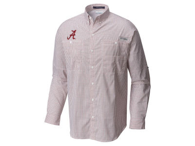 Alabama Crimson Tide Columbia NCAA Men's Super Tamiami Long Sleeve Shirt