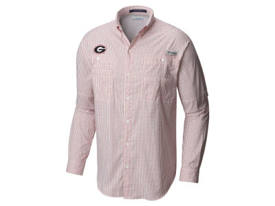 Georgia Bulldogs Columbia NCAA Men's Super Tamiami Long Sleeve Shirt