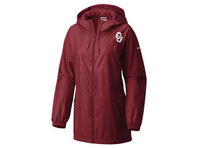 Oklahoma Sooners Columbia NCAA Women's Flashback Long Windbreaker Jacket