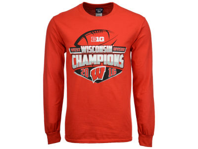 Wisconsin Badgers NCAA Men's Big 10 West Division Champ Long Sleeve T-Shirt