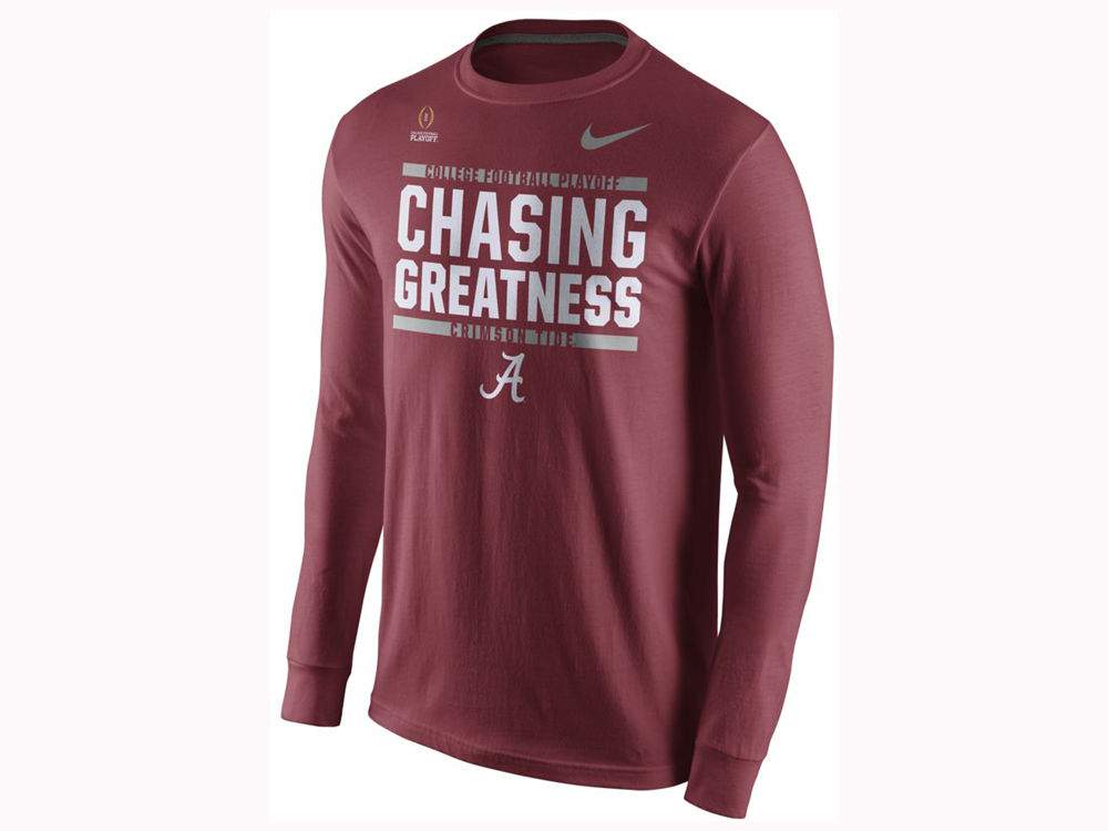 ededeca1664 Alabama Crimson Tide Nike 2017 NCAA Men s College Football Playoff Bound  Verbiage Long Sleeve T-Shirt