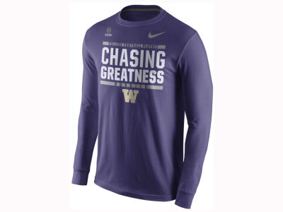 Washington Huskies Nike 2017 NCAA Men's College Football Playoff Bound Verbiage Long Sleeve T-Shirt