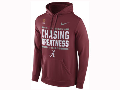 Alabama Crimson Tide Nike 2017 NCAA Men's College Football Playoff Bound Verbiage Hooded Sweatshirt