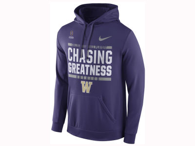Washington Huskies Nike 2017 NCAA Men's College Football Playoff Bound Verbiage Hooded Sweatshirt