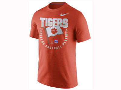 Clemson Tigers Nike 2017 NCAA Men's College Football Playoff Flag T-Shirt