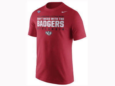 Wisconsin Badgers Nike 2017 NCAA Men's Bowl Bound Verbiage T-Shirt
