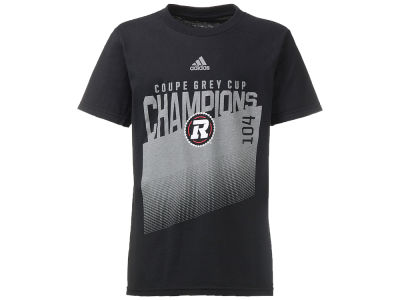 Ottawa RedBlacks adidas CFL Youth Grey Cup 104 Locker Room Champs T-Shirt