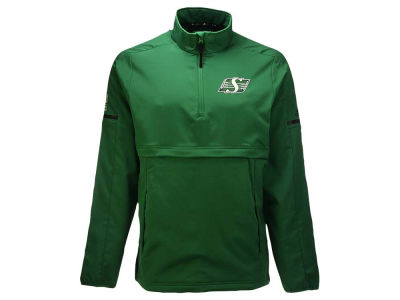 Saskatchewan Roughriders adidas CFL Men's Long Sleeve Quarter Zip Woven Jacket