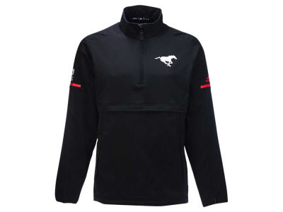 Calgary Stampeders adidas CFL Men's Long Sleeve Quarter Zip Woven Jacket