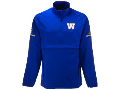 Winnipeg Blue Bombers adidas CFL Men's Long Sleeve Quarter Zip Woven Jacket