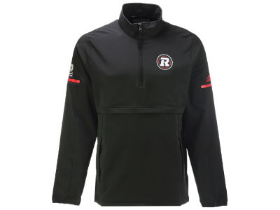 Ottawa RedBlacks adidas CFL Men's Long Sleeve Quarter Zip Woven Jacket