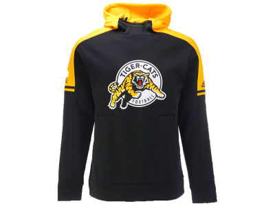 Hamilton Tiger-Cats adidas CFL Sideline Player Pullover Hood