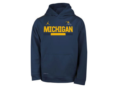 Michigan Wolverines Nike NCAA Youth Therma Color Block Hoodie