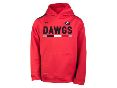 Georgia Bulldogs Nike NCAA Youth Therma Color Block Hoodie
