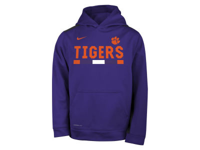 Clemson Tigers Nike NCAA Youth Therma Color Block Hoodie