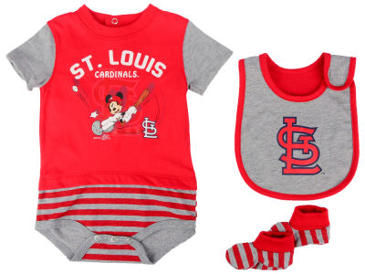St. Louis Cardinals Majestic MLB Newborn Disney Baseball Property Baseball Set