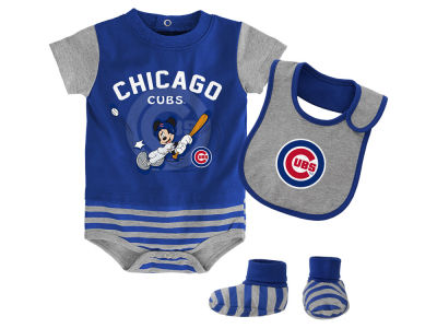 Chicago Cubs Majestic MLB Newborn Disney Baseball Property Baseball Set