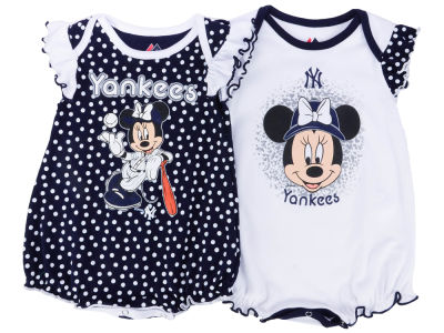 New York Yankees Majestic MLB Newborn Girls Disney Team Sparkle Creeper
