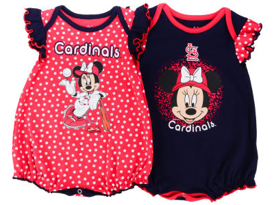 St. Louis Cardinals Majestic MLB Newborn Girls Disney Team Sparkle Creeper