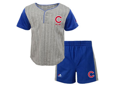 Chicago Cubs Outerstuff MLB Toddler Batter Up Short Set