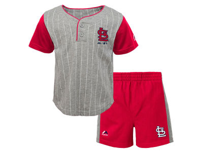 St. Louis Cardinals Outerstuff MLB Infant Batter Up Short Set