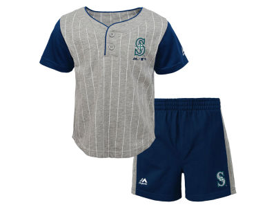 Seattle Mariners Outerstuff MLB Infant Batter Up Short Set
