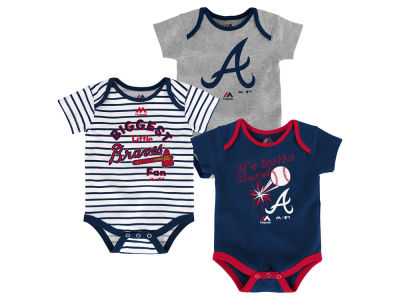 Atlanta Braves Outerstuff MLB Newborn Homerun 3pc Set