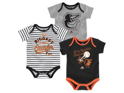 Baltimore Orioles Outerstuff MLB Newborn Homerun 3pc Set