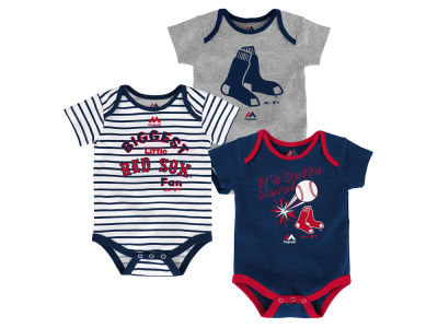 Boston Red Sox Outerstuff MLB Newborn Homerun 3pc Set