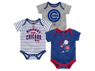 Chicago Cubs Outerstuff MLB Newborn Homerun 3pc Set