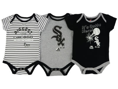 Chicago White Sox Outerstuff MLB Newborn Homerun 3pc Set