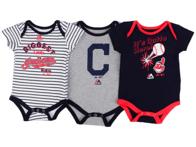 Cleveland Indians Outerstuff MLB Newborn Homerun 3pc Set