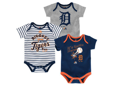 Detroit Tigers Outerstuff MLB Newborn Homerun 3pc Set