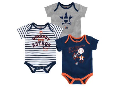 Houston Astros Outerstuff MLB Newborn Homerun 3pc Set
