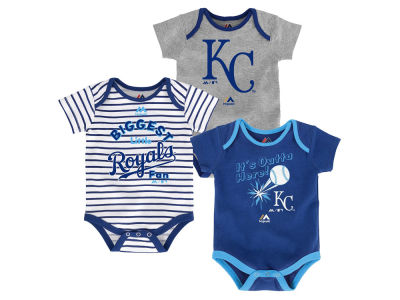 Kansas City Royals Outerstuff MLB Newborn Homerun 3pc Set