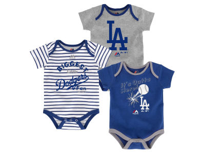 Los Angeles Dodgers Outerstuff MLB Newborn Homerun 3pc Set
