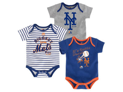 New York Mets Outerstuff MLB Newborn Homerun 3pc Set