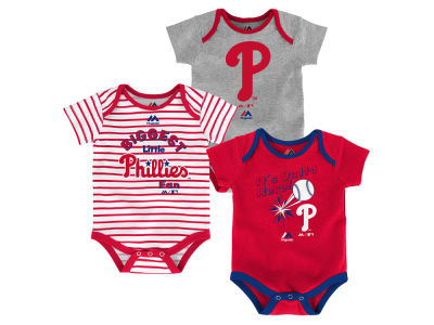 Philadelphia Phillies Outerstuff MLB Newborn Homerun 3pc Set