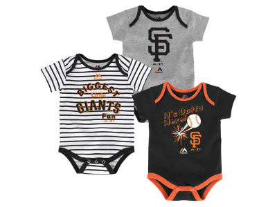 San Francisco Giants Outerstuff MLB Newborn Homerun 3pc Set