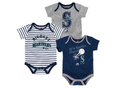 Seattle Mariners Outerstuff MLB Newborn Homerun 3pc Set