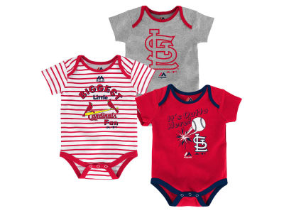 St. Louis Cardinals Outerstuff MLB Newborn Homerun 3pc Set