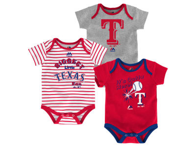 Texas Rangers Outerstuff MLB Newborn Homerun 3pc Set